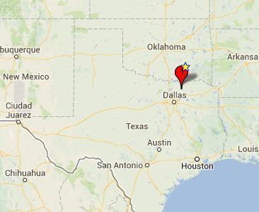 Map Of Powerball Jackpot Winners in Texas