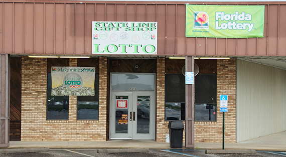 The winning $80 million Powerball ticket was sold at the State Line Gift Shop on Highway 97 in North Escambia, Florida.