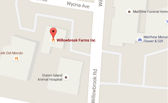 Map of the Willowbrook Deli store on Staten Island