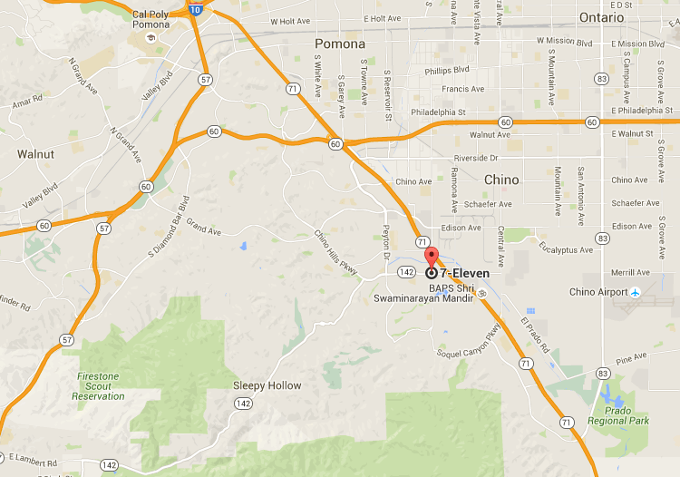 Chino Hills, CA, at a 7-Eleven store, located at 4092 Chino Hills Parkway